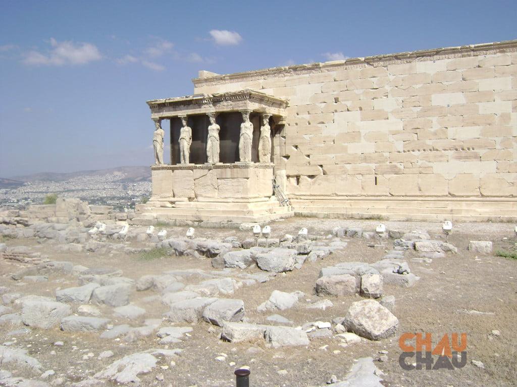 El Erection, uno de los sitios turisticos en Atenas, Grecia