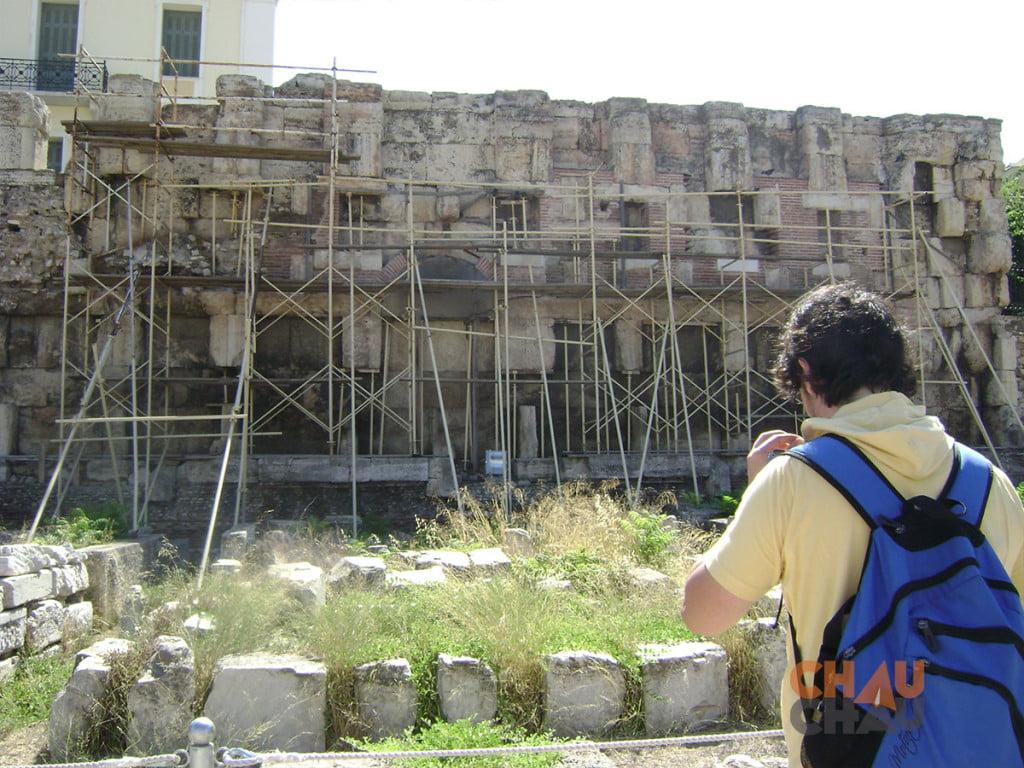 Que hacer en Atenas Grecia, visitar la Biblioteca de Adriano,