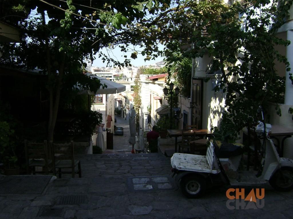 El Barrio de Plaka en Atenas Grecia