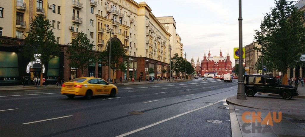 Como llegar en Taxi del aeropuerto al centro de Moscu