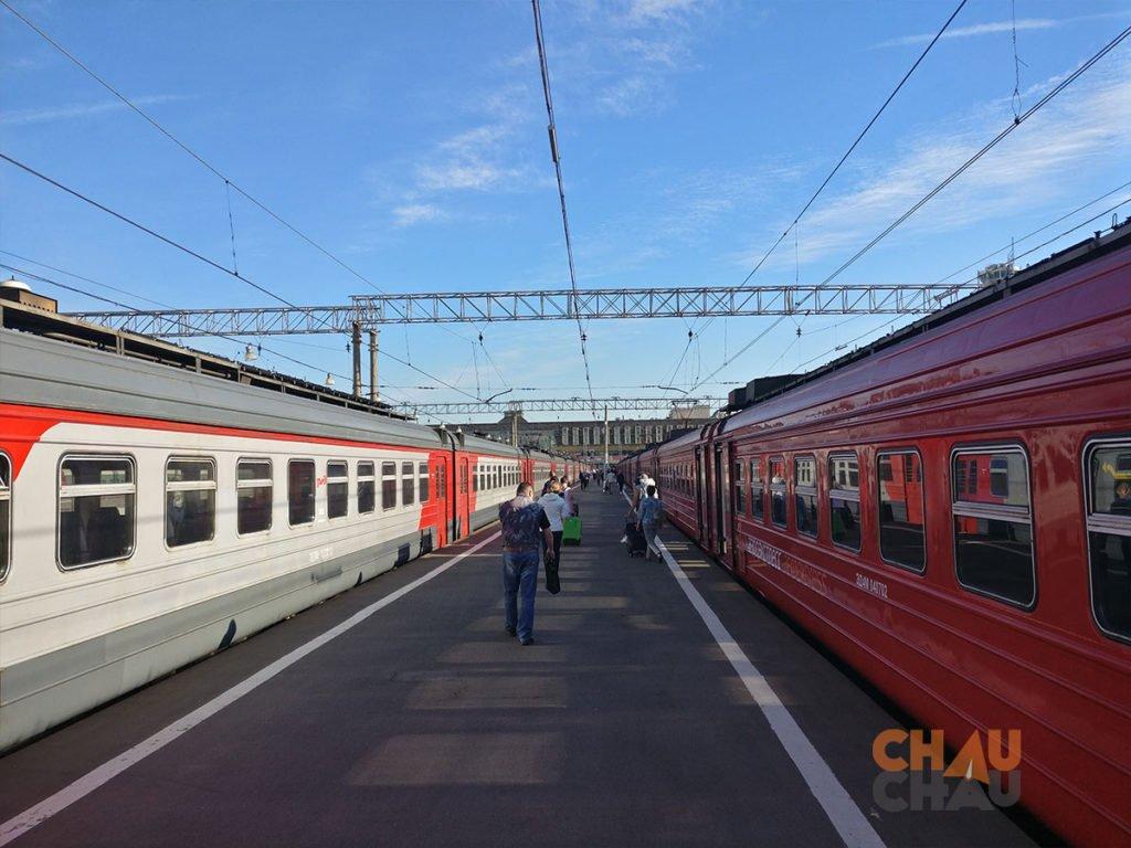 Tren del aeropuerto al centro de Moscu