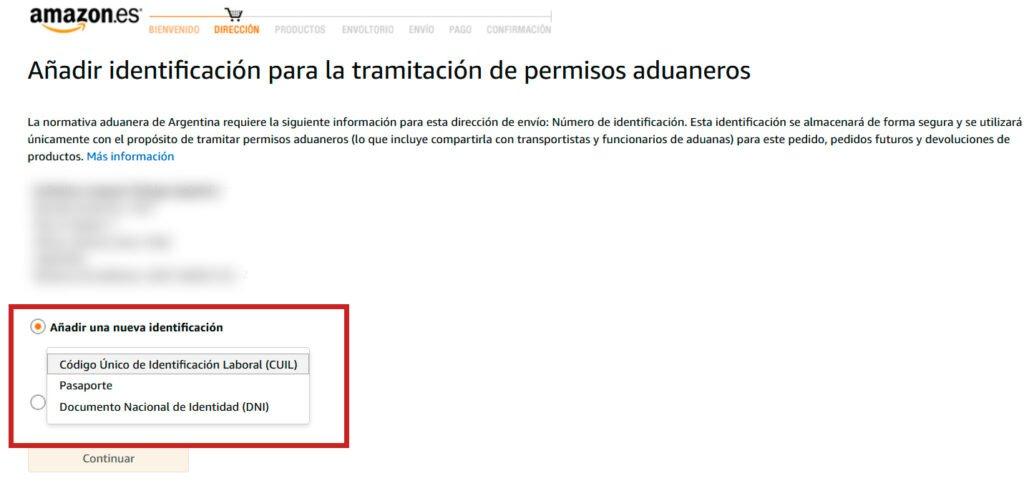 Documentos envios Amazon